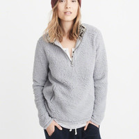 Womens Half-Zip Sherpa Pullover | Womens Best Of Sale | Abercrombie.ca