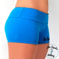 SheSquatsClothing Workout Shorts, Gym shorts,  Fitness Performance Running Shorts, WOD Shorts, Crossfit shorts, booty shorts