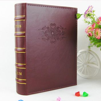 "Big 6 Inches 4.5*6"" 4D Photo Album Imitation Leather PU Cover Picture Album Welding Gift Tour Autograph Book Christmas Day Gift"