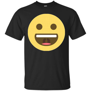 Really Happy Mouth Open Emoji Face T-Shirt