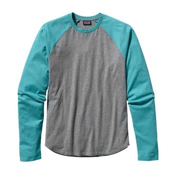 Patagonia Men's Long-Sleeved Daily Raglan Tee | Dark Currant
