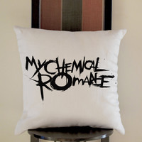 My Chemical Romance Pillow, Pillow Case, Pillow Cover, 16 x 16 Inch One Side, 16 x 16 Inch Two Side, 18 x 18 Inch One Side, 18 x 18 Inch Two Side, 20 x 20 Inch One Side, 20 x 20 Inch Two Side