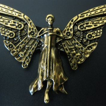 Mortal Instruments Inspired Infernal Devices Tessa's Clockwork Angel Necklace-free Shipping