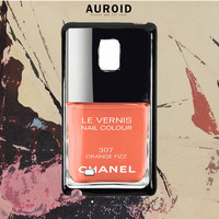Chanel Nail Polish Orange Fizz Samsung Galaxy Note 5 Case Auroid