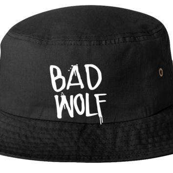 dr. who bad wolf bucket hat