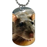 """Rat Dog Tag with 30"""" chain necklace Great Gift Idea"""