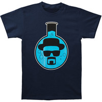 Breaking Bad Men's  Round Bottom Flask T-shirt Navy Rockabilia