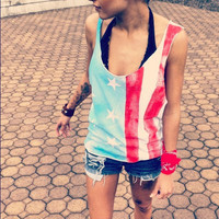 American Flag Rockstar Tank by UrbanEclectics on Etsy