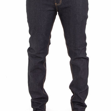 Raw Indigo Flex Stretch Slim Fit Denim Jeans (Black)