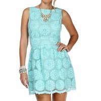Sale-mint Embroidered Floral Dress
