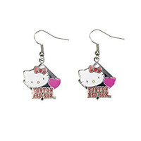 MLB Boston Red Sox Hello Kitty Diamond Dangler Earrings
