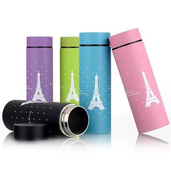 Kitchen Vacuum Flasks Thermoses 260ML Stainless Steel Eiffel Tower Insulated Thermos Cup Coffee Home Mug Travel Drink Bottle