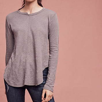 Seamed Scoop Tee