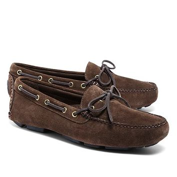 Suede Tie Driving Mocs - Brooks Brothers