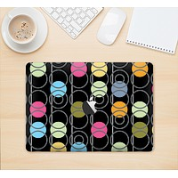 """The Retro Colorful Filled Flat Circle Pattern Skin Kit for the 12"""" Apple MacBook"""