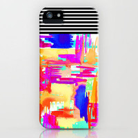 Colorful Chaos iPhone Case by Holly Sharpe | Society6