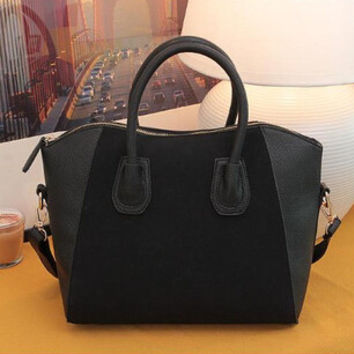Black Spring Patchwork Handbag