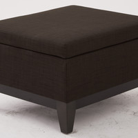 Ave Six Merge Storage Ottoman in Milford Java Fabric with Reversible Tray