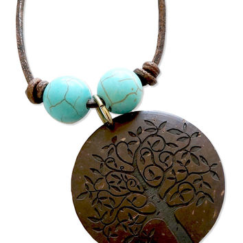NEW! Etched Tree of Life Necklace