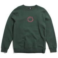 International Circle Applique Crewneck Sweatshirt Dark Forest