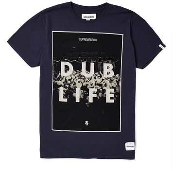 Supremebeing T Shirt with Dub Life Print