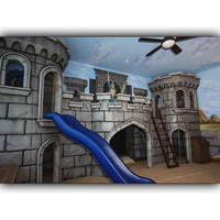 Medieval Castle Playhouse and Mural