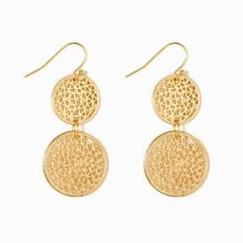 Filigree Disc Earrings | Fashion Jewelry | charming charlie