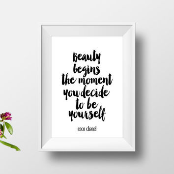 coco chanel print,inspirational poster,best words,typography print,motivational print 171,instant download,gift idea,fashion print