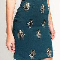 Graceful Charm Embellished Skirt | Ruche