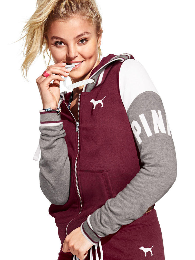 Perfect Full Zip Hoodie Pink From Vs Pink Quick Saves