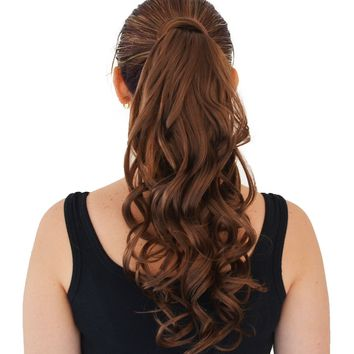 "26"" Curly Wrap-Around Pony Tail Piece Extension Hot Do *Feels like Human Hair*"