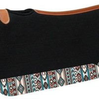 Turquoise & Brown Navajo Saddle Pad