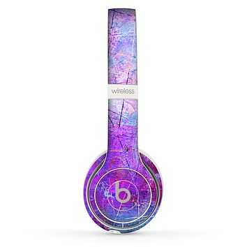 The Abstract Blue & Pink Surface Skin Set for the Beats by Dre Solo 2 Wireless Headphones