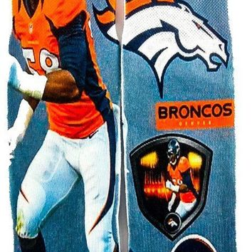 Denver Broncos  NFL fathead football Socks