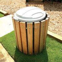 Planet Playgrounds Wood Litter Receptacle