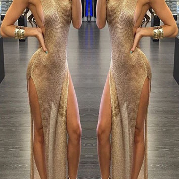 Blade Gold Cover Up Dress - Preorder