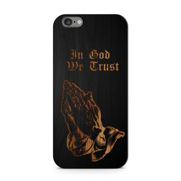 Black Bamboo - In God We Trust / Praying Hands Phone Case
