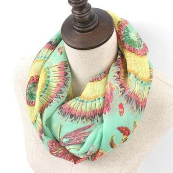 Autumn Infinity Scarf for Woman