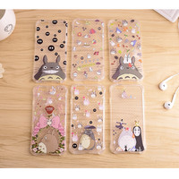 Top Quality Soft TPU Case For iPhone 6 6s 6/6s Plus Lovely cute Totoro With Clear Transparent Shockproof Phone Back Funda Covers