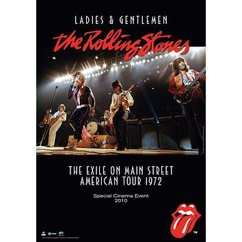 Ladies and Gentlemen: The Rolling Stones 11x17 Movie Poster (1973)