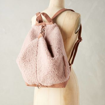 Iga Shearling Backpack