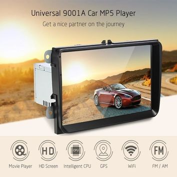 New 9001A Android 6.0 9 inch GPS Navigation Car Radio Player Bluetooth FM Video Play Car MP5 Player With WiFi for Volkswagen