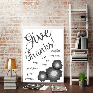 Print as an engineering print for $2, let the whole family share what they are thankful for!