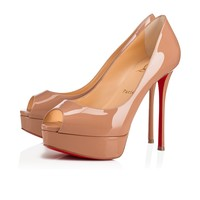 Fetish Peep 130 Nude Patent Leather - Women Shoes - Christian Louboutin