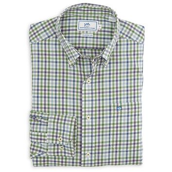 Paris Mountain Plaid Sport Shirt in Willow Green by Southern Tide