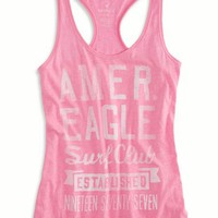 AEO Women's Bright Graphic Tank (Neon Magenta)