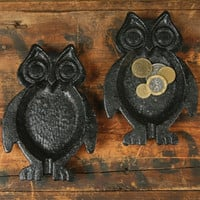 Owl Dish Black Cast Iron