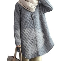 Women's Cotton Wadded Jacket Padded Coat Casual Loose Fitting Plus Size