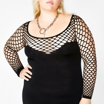 Sexxx It Up Fishnet Mini Dress