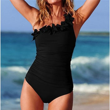 New Sexy High Cut One Piece Swimwear Monokini Backless Beachwear Swimsuit